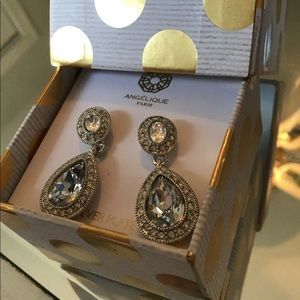 Beautiful silver plated antique earrings